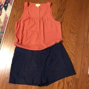 Collective Concepts Orange and Blue Tank Top